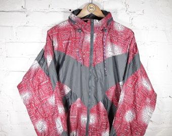 80s XS Yukon Parka Company Rain Jacket Fuchsia Pink