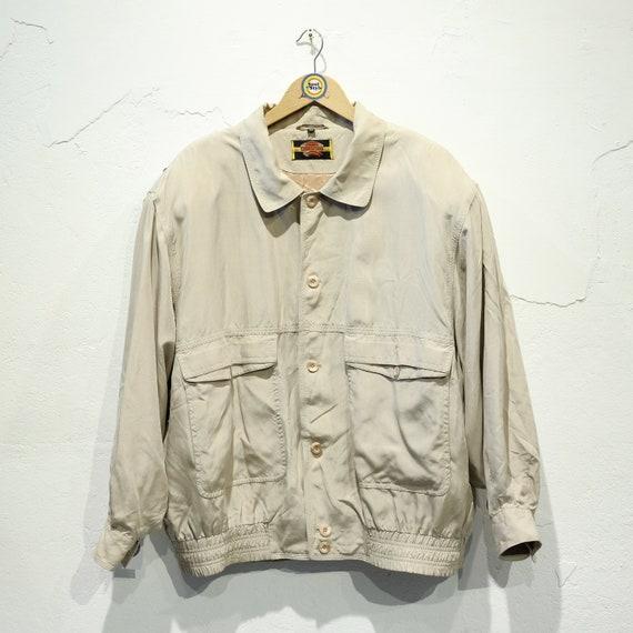Vintage 90s Silk Jacket Silk Blouson L 54