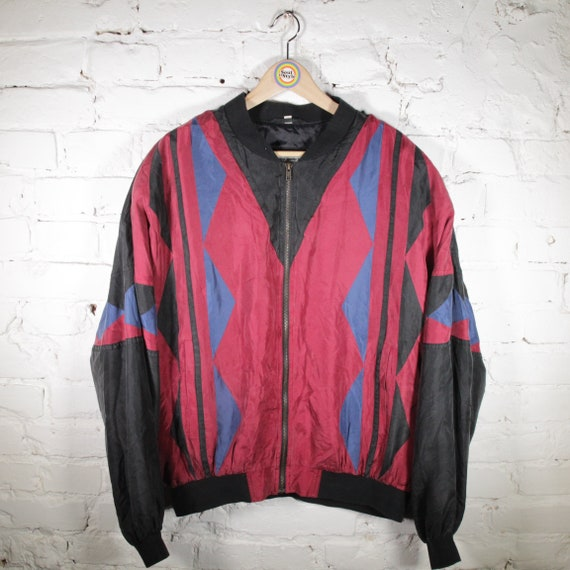 Vintage 90s Silk Blouson Size XL Noble Silk