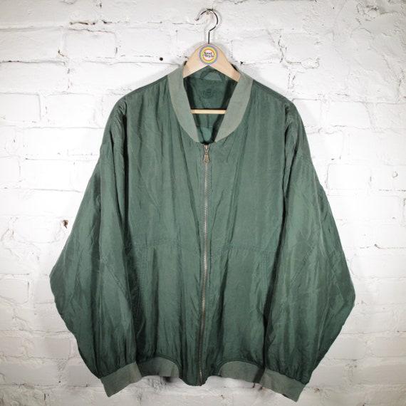 Vintage 90s Silk Blouson Size 2XL