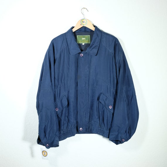 Vintage 90s Silk Blouson Size XL Leader
