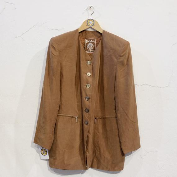 Vintage 90s Betty Barclay Silk Coat L