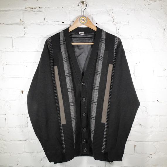 Vintage Strickjacke Cardigan Size L-XL Detlev Albe