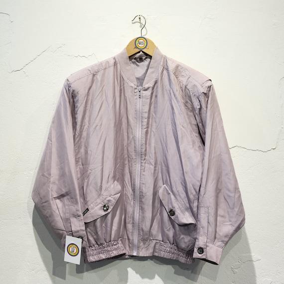 Vintage 90s Silk Blouson Silk Jacket S/Meter