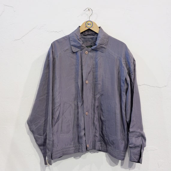 Vintage 90s Silk Blouson M