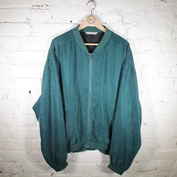 Vintage 90s Silk Blouson Size XL Avanti