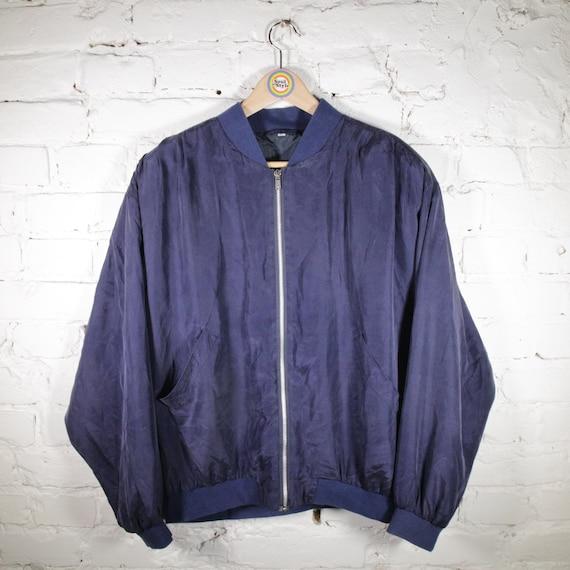 Vintage 90s Silk Blouson Size M