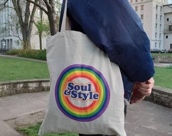 Soul And Style Jute Bag Rainbow