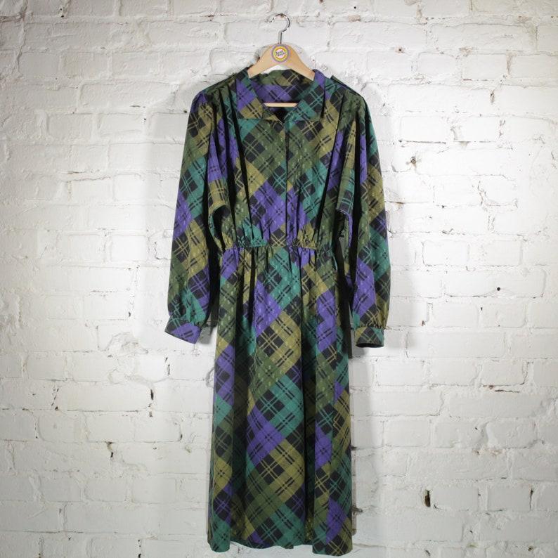Vintage 80s 90s Dress Kleid Size L