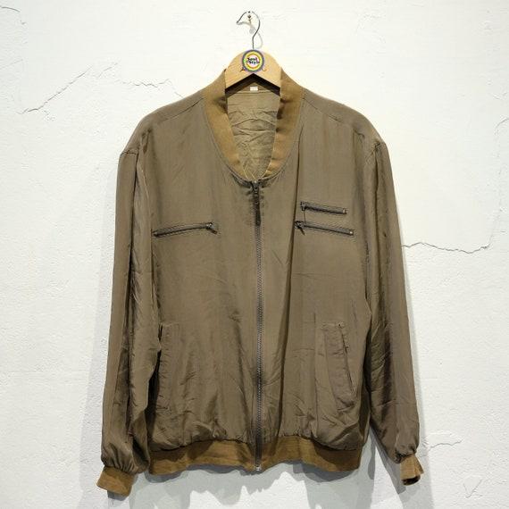 Vintage 90s Silk Blouson Jacket Silk L/50