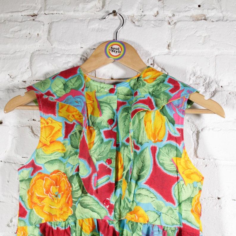 146 Kids Size Vintage 80s 90s Dress Dress Size S