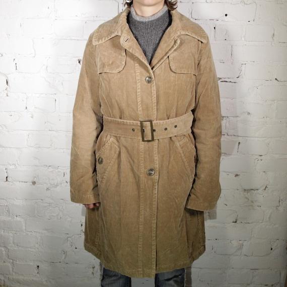 Vintage 80s Womens Brown Corduroy Jacket Size M.
