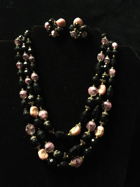 Trifari demiparure necklace and earrings