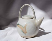 Handmade ceramic teapot with white glaze - teapot for black tea - pot for tea