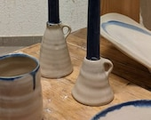 Hand-made white candlestick