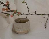 White Whiskey Tumbler - Small Handmade Tea Mug - White Little Mug