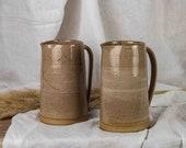 Beiger Stoneware Ceramic Jug - Hand-made Water Jug