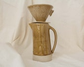 Beige stoneware coffee pot - hand-made coffee pot -Coffee jug for filter coffee