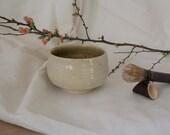 White Large Tea Bowl - Chawan - Mug for Matcha Ceramic Tea - Stable Stoneware