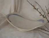 Blue White Oval Fruit Bowl - Large Ceramic Bowl