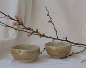Flower-shaped beige bowl with foot ring - bowl - tea bowl