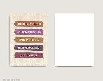 BULK ORDER 5 Reasons To Try Beautycounter Sample Cards | Beautycounter Consultant Notecards | Sample Cards