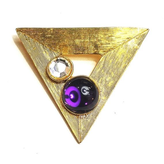 Modernist Vintage Triangle Brooch