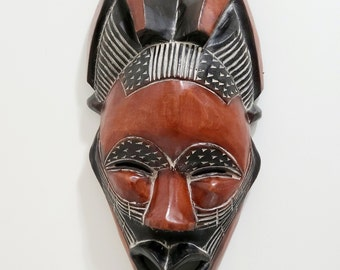 African Wood Face Etsy