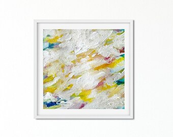 Clouds Painting Abstract - Acrylic Painting - Sunset Painting Abstract Art - Coastal Style - Home Decor