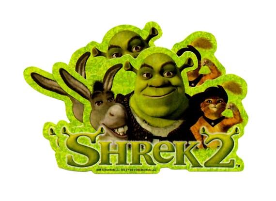 Shrek 2 Donkey Shrek Puss In Boots Prism Etsy