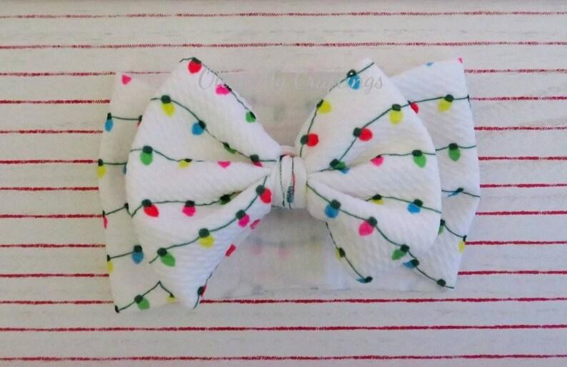 Holiday Lights Headband for BabiesToddlersKidsNewbornsAdults