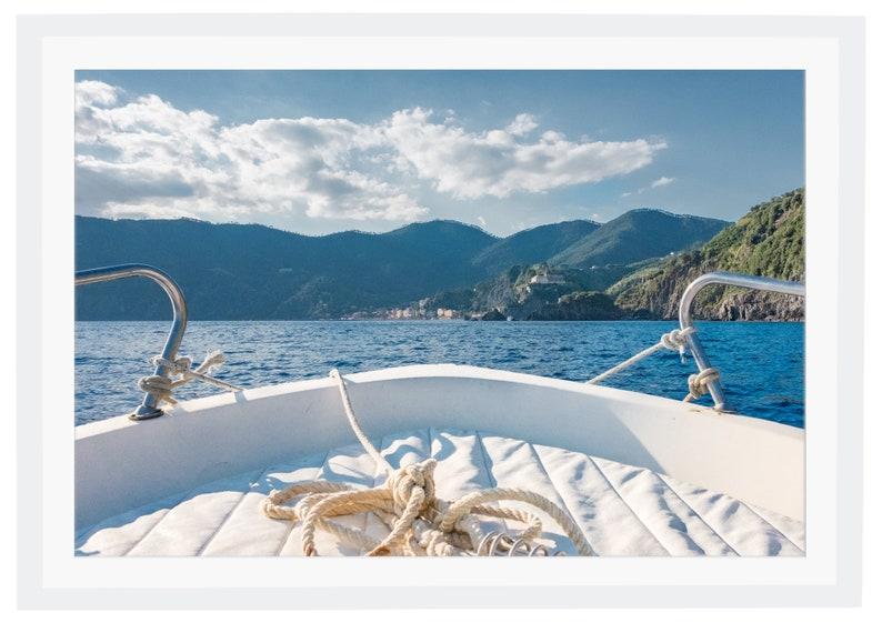 Italy Wall Art Italian Decor Travel Photography Boat Wall Art Cinque Terre Boat Photo Mediterranean Sea Print Home Decor