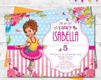 Digital Fancy Nancy Birthday invitation. Fancy Nancy invites. Fancy Nancy Birthday. E-invite. Digital invite. Boy birthday. Girl Birthday