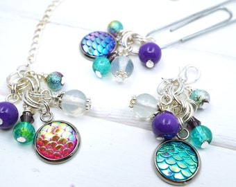 Mermaid Planner Charm, Mermaid jewellery charm, Mermaid jewellery clip for planner or journal