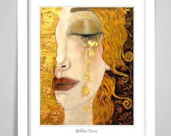 life death gustav-klimt-the-kiss-adele-poster-print for glass frames