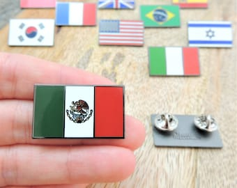 3 Pack Mexico Flag Lapel Pin Support Patriotic Enamel Badge Hat Tie Mexican Flag