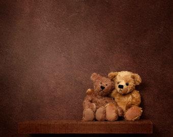 Newborn Digital Backdrop for boys or girls - On the Shelf with Teddy Bears