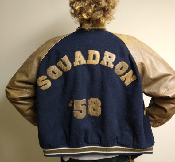 Vintage Squadron '58 Leather and Wool size large m