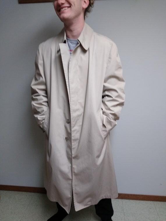Men's trench coat, vintage coat, classic coat, cla