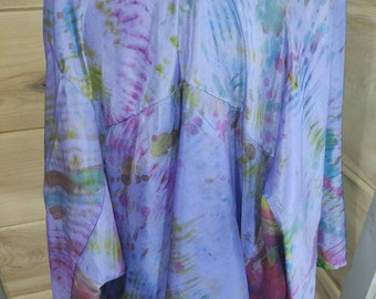 Silk Jacket Shibori Blue