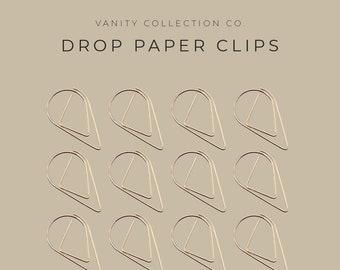 Medium Rain Drop Gemstone Planner Paper Clip