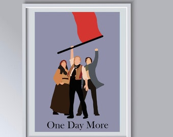 Les Miserables Musical Print, One Day More, Enjolras, Marius, Eponine