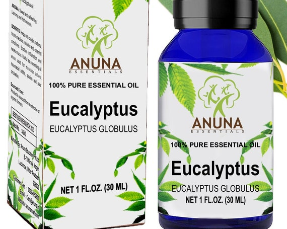Anuna EUCALYPTUS -100% pure essential oil, undiluted and therapeutic,relieves muscular pain and respiratory problems,(30ml)