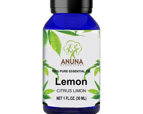 Anuna LEMON essential oil derived from citrus limon is rich in vitamin c, 100% pure and natural, help rejuvenate skin,(30ml)