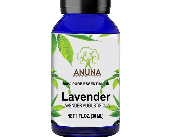 Anuna LAVENDER therapeutic grade, 100% pure essential oil, exhilarates the mind and body, pure and natural for face, hair and skin (30ml).