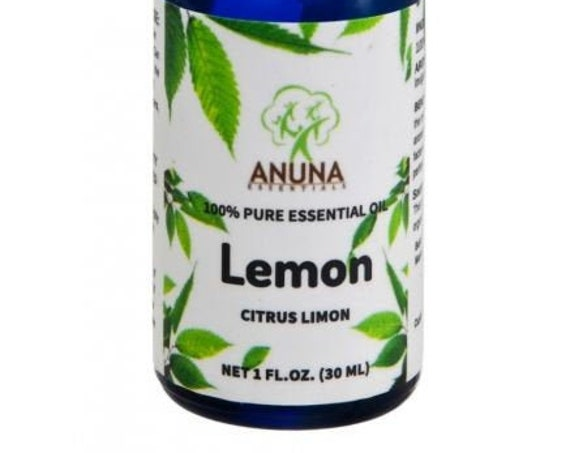 Anuna Lemon Essential Oil - 100% Pure, Natural and Undiluted - 30 ml (1 oz)
