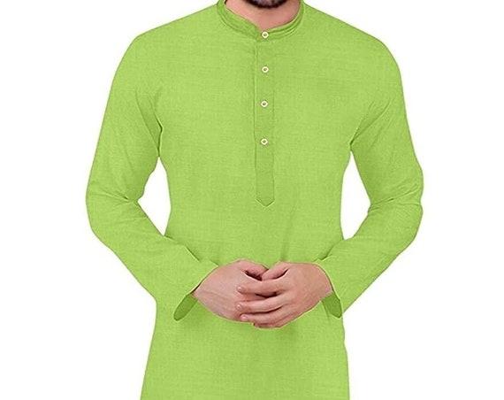 Men's Solid Straight Kurta Pyjama Set
