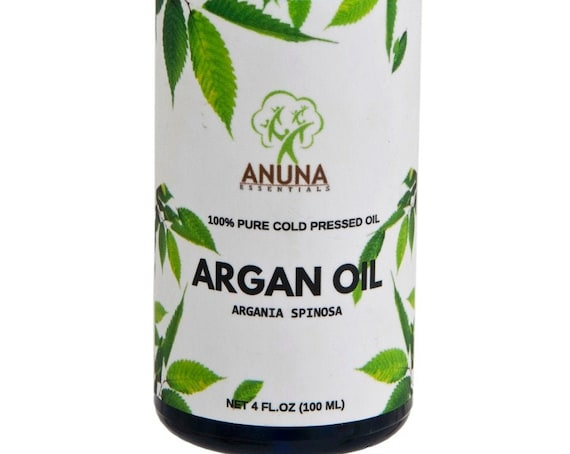 Anuna Argan Oil - 100% Pure, Natural and Undiluted - 100 ml, 3.3 oz