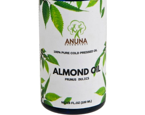 Anuna Sweet Almond Oil - 100% Pure, Natural and Undiluted, 100 ml (3.3 oz)