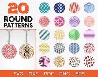 SVG Stencils Circle Pattern LRG